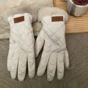 UGG Women's Quilted Shearling Cuff Gloves Col